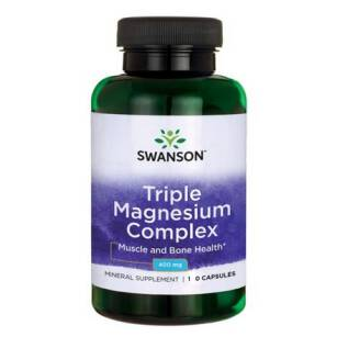 Swanson Triple Magnesium Complex (3 formy magnezu) 400mg 30kaps
