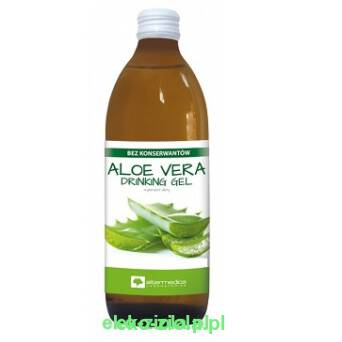 Sok Aloe Vera drinking Gel,  aloes z miąższem 1000ml, Alter Medica